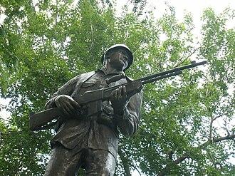 Joe P. Martínez - Image: Statue in Denver of Private Joe Martinez