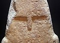 Stele di vado all'arancio, III millennio a.c. circa 04 occhi, naso.JPG