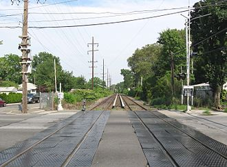 Hempstead Branch - Covert Avenue grade crossing