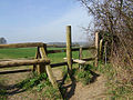 Stile at the top of Dark Lane - geograph.org.uk - 1207257.jpg