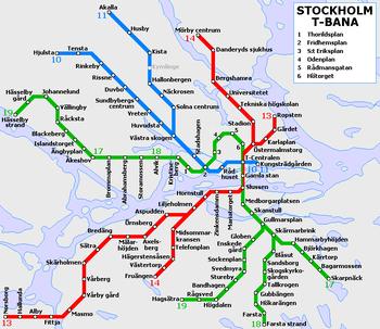 Mappa della metropolitana