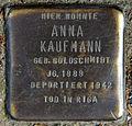 Stolperstein Dieffenbachstr 45 (Kreuzb) Anna Kaufmann.jpg