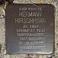 Stolperstein Gelsenkirchen Bismarkstraße 152 Hermann Hirschhorn.JPG