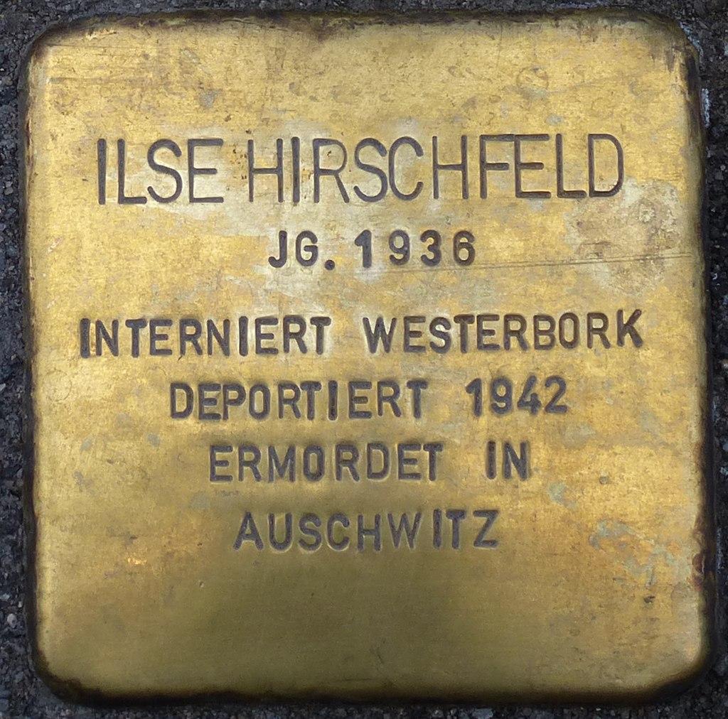 Stolperstein HB - Ilse Hirschfeld 1936.JPG