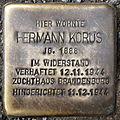 Stolperstein Hermann Korus Heinz-Galinski-Straße 8 0092.JPG