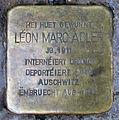 Stolperstein L.M. Adler Esch-Alzette, 38 rue du Brill 01.jpg
