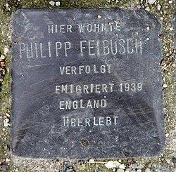 Photo of Philipp Feibusch brass plaque