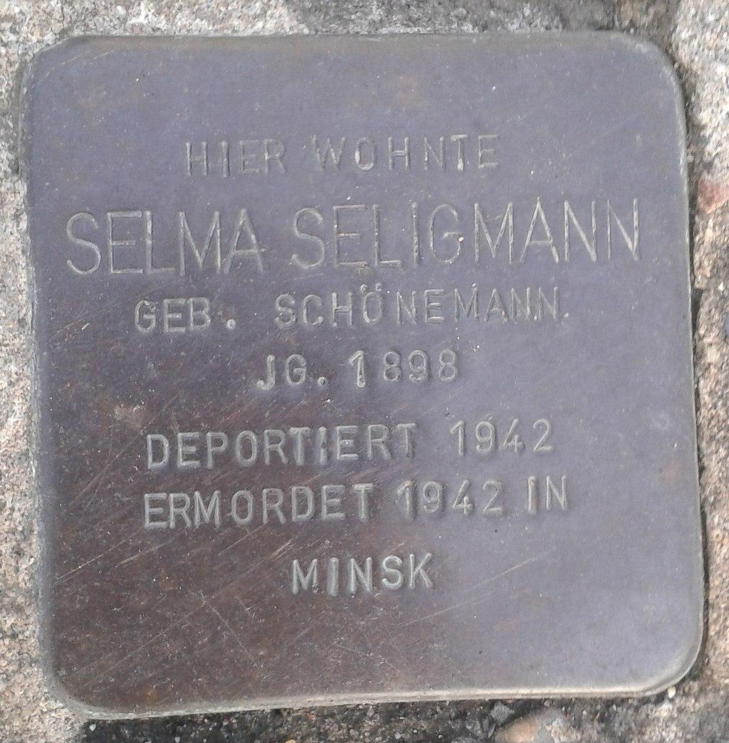 Stolperstein Windeck Rosbach Mittelstraße 20 Selma Seligmann