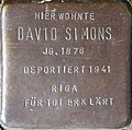 Stumbling block for David Simons (Im Dau 12)