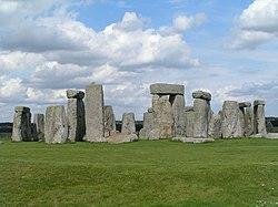 pohled na Stonehenge
