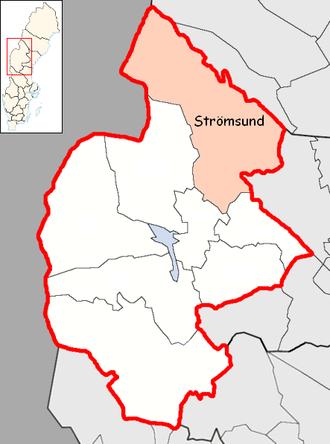 Strömsund Municipality - Image: Strömsund Municipality in Jämtland County