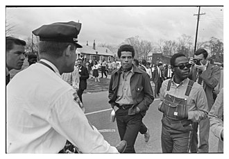 Selma to Montgomery marches - SNCC protesters in Montgomery, March 17, 1965