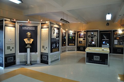 An exhibition on life and works of Subrahmanyan Chandrasekhar was held at Science City, Kolkata, on January, 2011. Subrahmanyan Chandrasekhar Exhibition - Science City - Kolkata 2011-01-07 9514.JPG