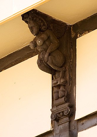 Succubus - A 16th-century sculpture representing a succubus, Cambridge.