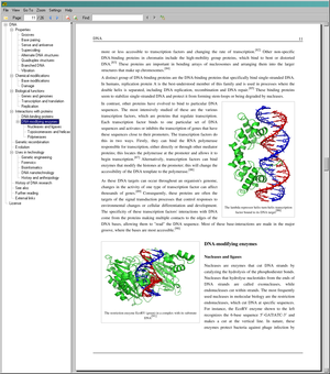 Sumatra PDF v1.1 showing the English Wikipedia...