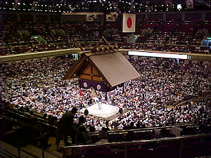 Sumo - The sumo hall of Ryōgoku in Tokyo during the May, 2001 tournament