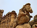 Sun Temple, Sculpture of the Chariot driver, horses, Puri,Odisha.jpg