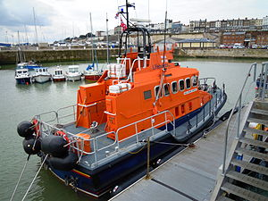Trent class allweather lifeboat alongside