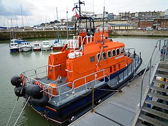 Trent-class lifeboat - Trent class allweather lifeboat alongside