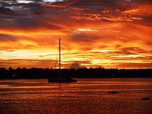 Pasikudah - Image: Sunset, Pasikudah beach, Sri Lanka