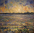 Sunset on Lake Champlain and the Adirodacks 40x40 by Samir Sammoun.jpg