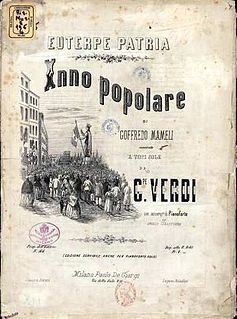 Suona la tromba hymn composed by Giuseppe Verdi