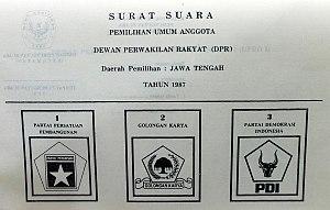 Indonesian legislative election, 1987 - 1987 Election ballot