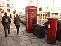 Swanage, postbox No. BH19 124 and phone, High Street - geograph.org.uk - 1718446.jpg