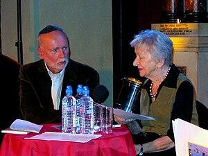 Adam Zagajewski - Adam Zagajewski and Wisława Szymborska in 2005