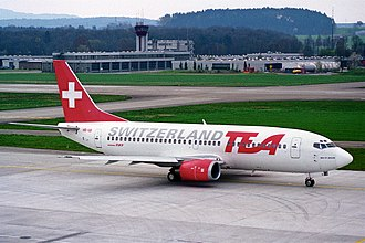 EasyJet Switzerland - TEA Switzerland Boeing 737–300 at Zürich in 1995