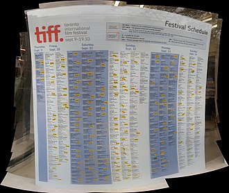 2010 Toronto International Film Festival - Image: TIFF 2010 sched I of II