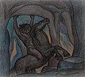 TKM 0844A August Roosileht -- Kalevipoeg Põrgu väravas.jpg