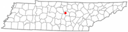 Location of Dowelltown, Tennessee