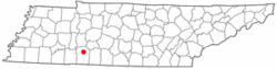 Location of Waynesboro, Tennessee
