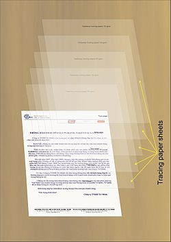 photo about Printable Transparency Paper identified as Tracing paper - Wikipedia