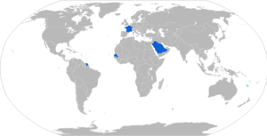 TRF1 - Map of TRF1 operators in blue
