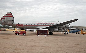 Un L-049 Constellation de la Trans World Airlines exposé au Pima Air & Space Museum.
