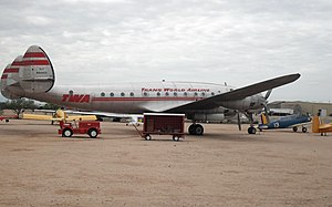 Lockheed Corporation - A Lockheed L-049 Constellation sporting the livery of Trans World Airlines at the Pima Air & Space Museum.