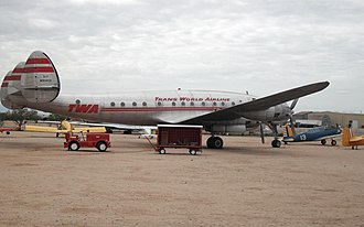 "C-69-1-LO / L-049 Constellation, c/n 1970, formerly 42-94549, painted as ""Star of Switzerland"" of TWA, on display at the Pima Air & Space Museum TWA L-049.jpg"
