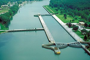 T. J. O'Brien Lock and Dam on the Calumet Rive...