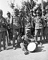 Tableau, soldier, musical instrument, drum, First World War Fortepan 28886.jpg