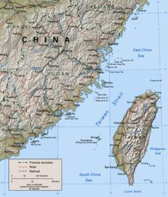 Taiwan Strait Map Taiwan Strait   Wikipedia