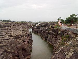 Kukadi River - The Kukadi River in Takali Haji.