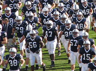 2005 Penn State Nittany Lions football team - The Nittany Lions taking the field against Minnesota in 2005.