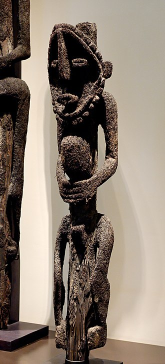 Banks Islands - Tree fern statue of a spirit from Gaua, 19th century