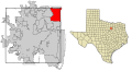 Tarrant County Texas Incorporated Areas Grapevine highlighted.svg