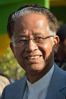 Tarun Gogoi former Chief Minister of the state of Assam in India