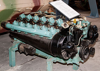SdKfz 234 - Tatra 103 engine, Panzermuseum Munster, Germany
