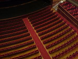 Teatro Pérez Galdós, detalle de platea desde 2...