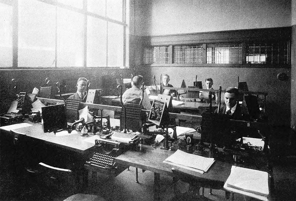 Telegraphic Department, The Detroit News (1918)